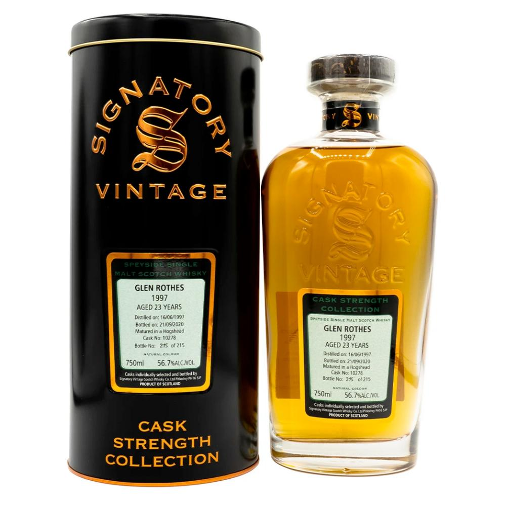 Signatory Single Cask Glenrothes 23 Year (Cask #10278) Scotch Signatory