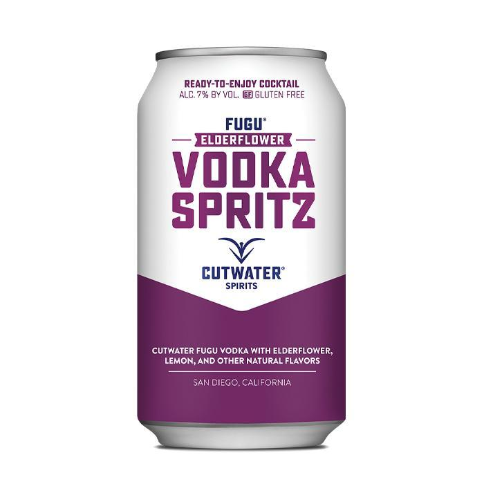 Fugu Elderflower Vodka Spritz (4 Pack - 12 Ounce Cans) Canned Cocktails Cutwater Spirits