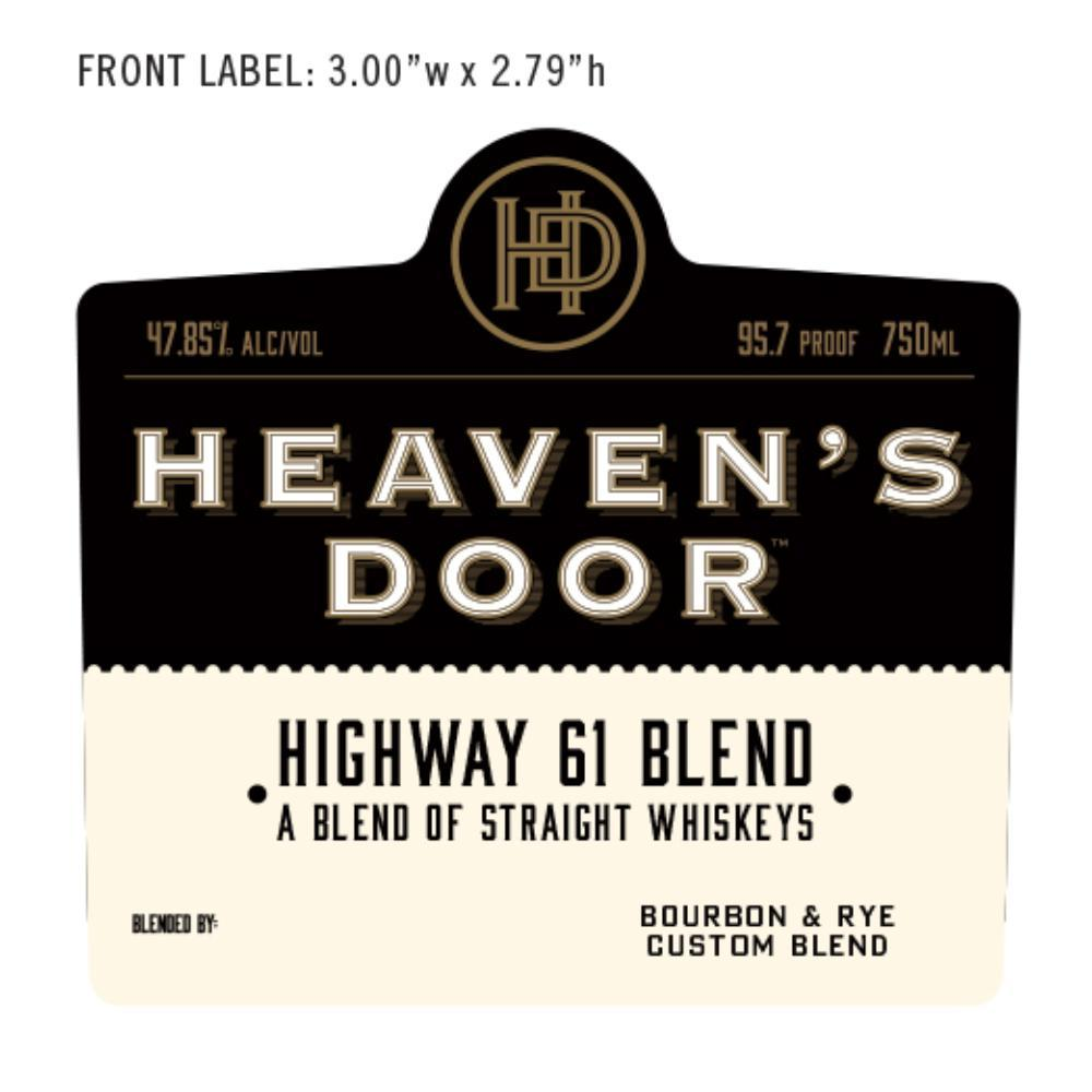 Heaven's Door Highway 61 Blend American Whiskey Heaven's Door Whiskey