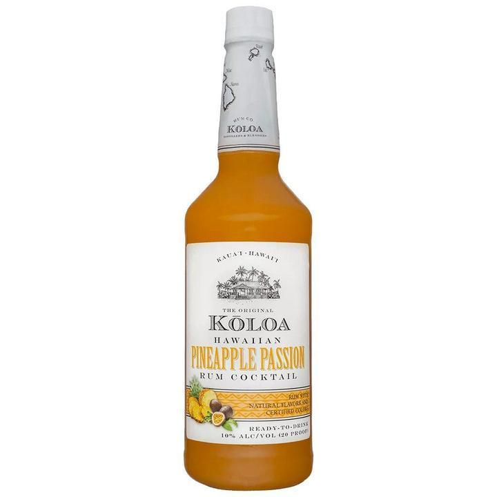 Kōloa Hawaiian Pineapple Passion Rum Cocktail 1 Liter Cocktail Mixers Kōloa Rum