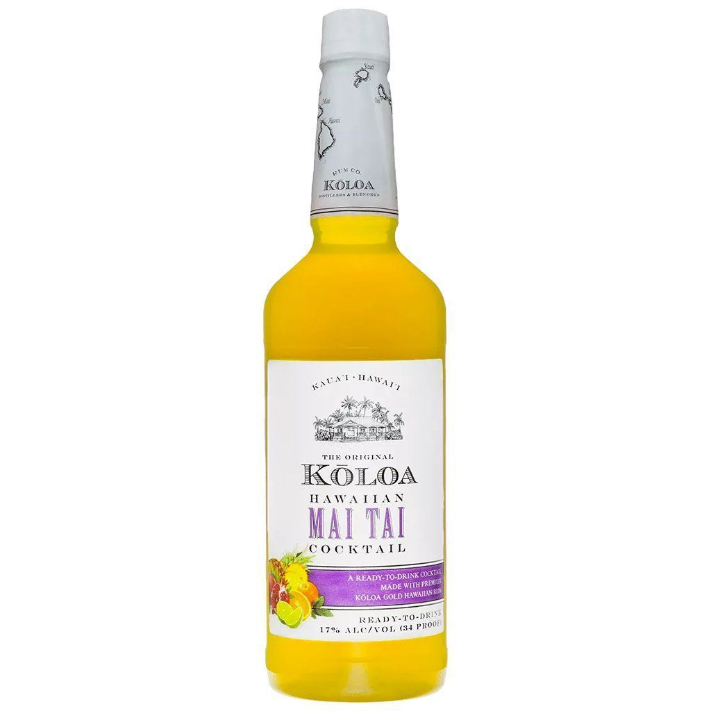 Kōloa Kauaʻi Hawaiian Mai Tai Cocktail 1 Liter Cocktail Mixers Kōloa Rum
