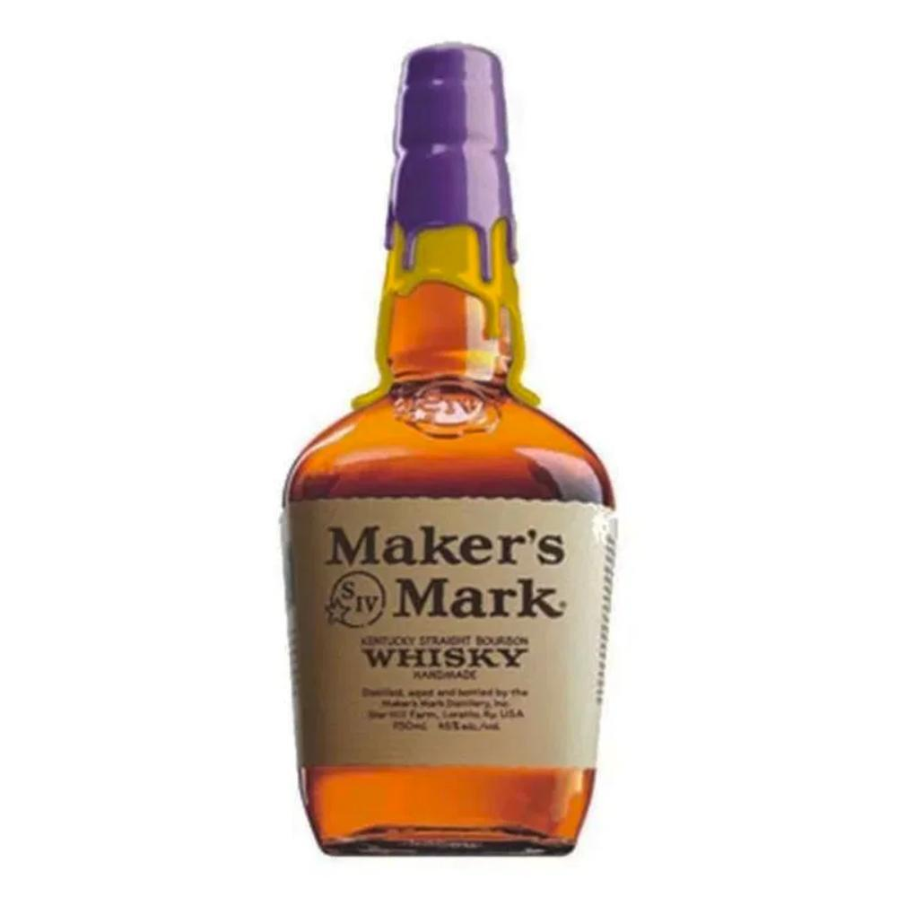 Maker's Mark Los Angeles Lakers Purple And Gold Wax Bourbon Maker's Mark