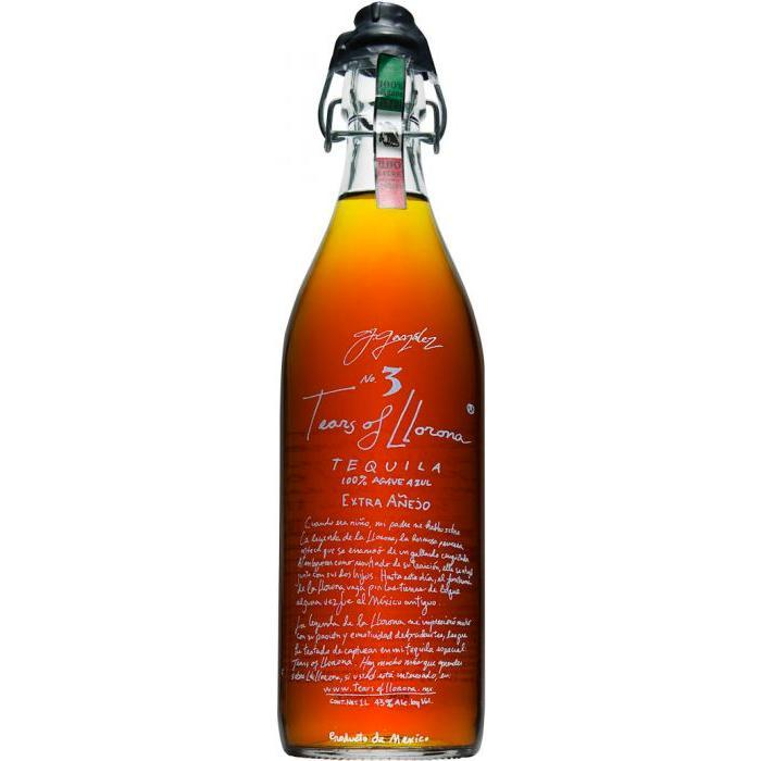 Tears of Llorona No. 3 Extra Añejo Tequila 1 Liter Tequila Tears of Llorona Tequila
