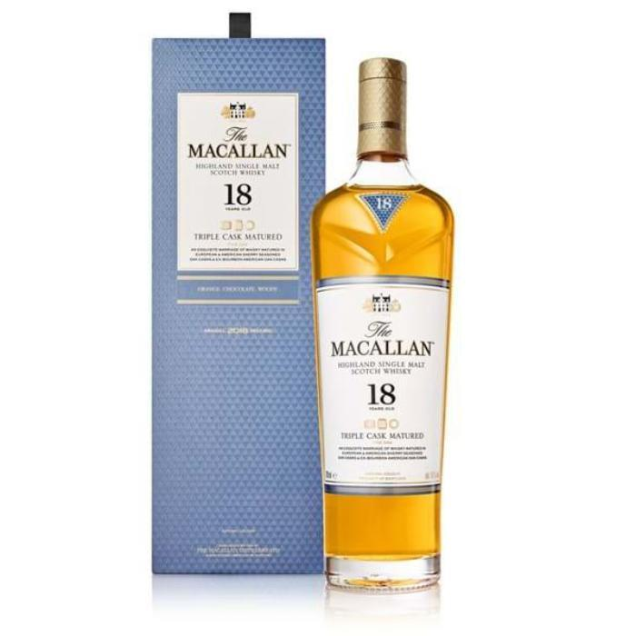 The Macallan Triple Cask Matured 18 Year Old Fine Oak Scotch The Macallan