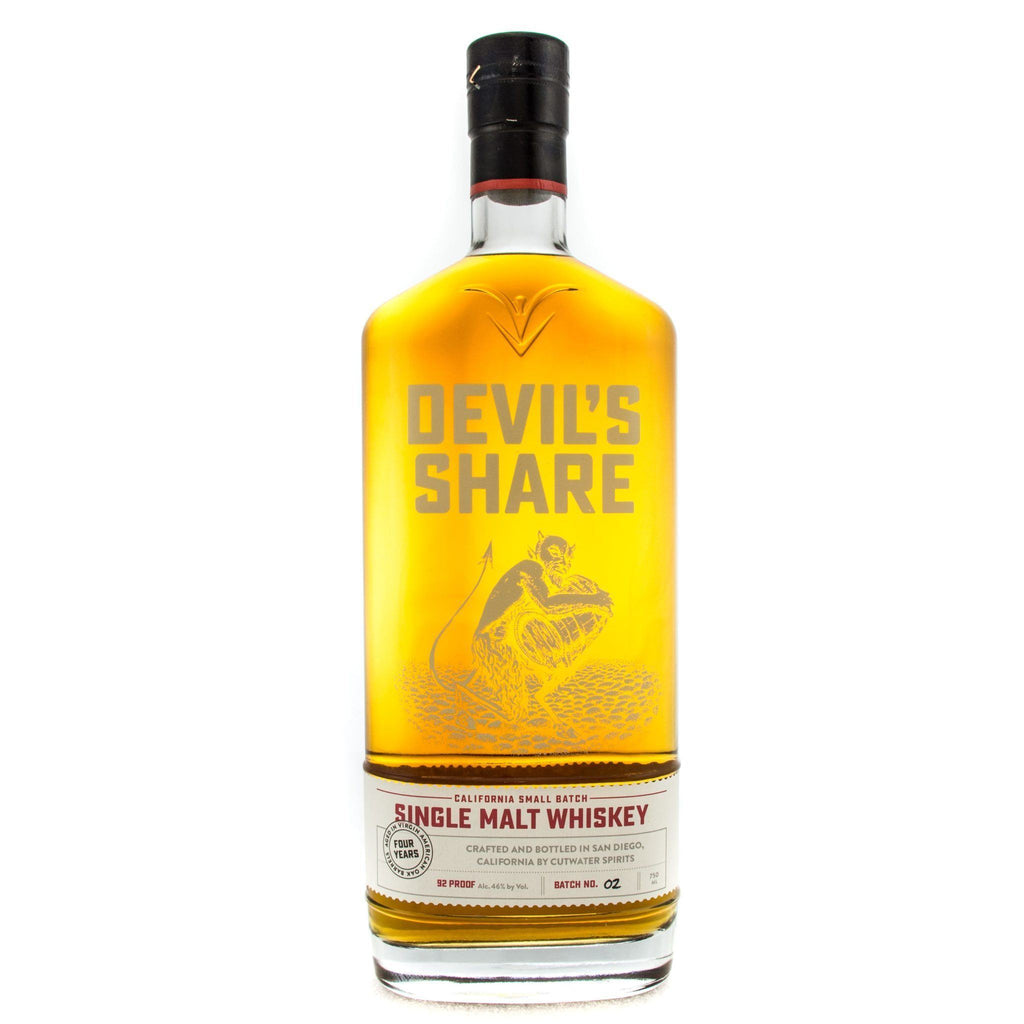 Devil's Share Single Malt Whiskey American Whiskey Cutwater Spirits