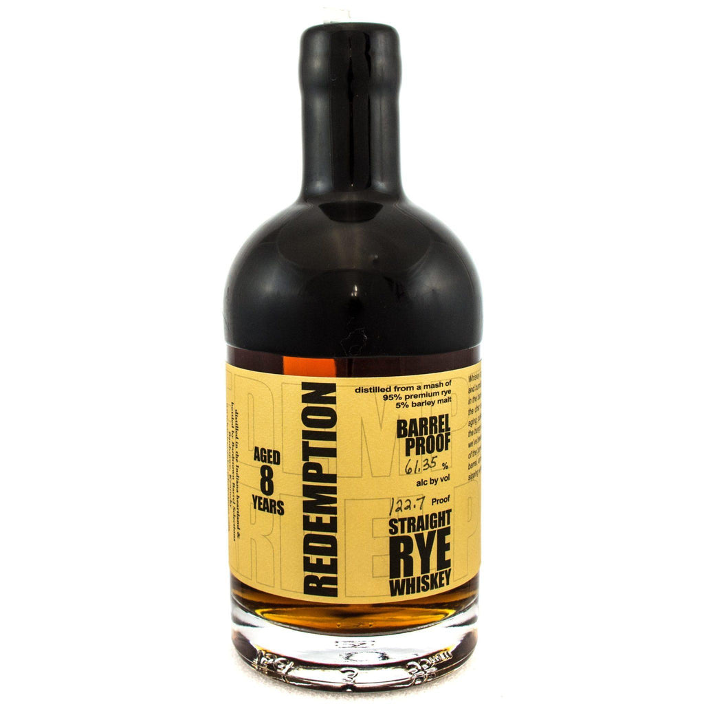 Redemption 8 Year Old Rye Rye Whiskey Redemption