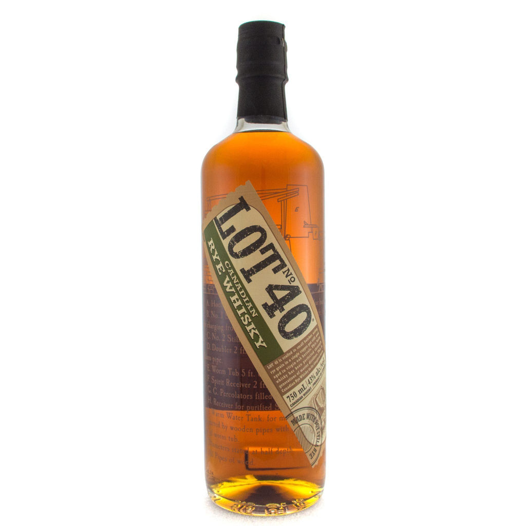 Lot No. 40 Canadian Rye Whisky Rye Whiskey Lot No. 40