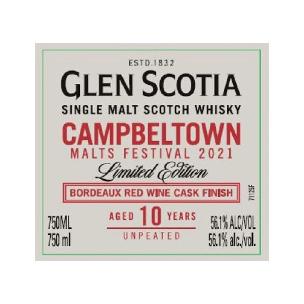 Glen Scotia Campbeltown 10 Year Old Single Malt Scotch Whisky Glen Scotia