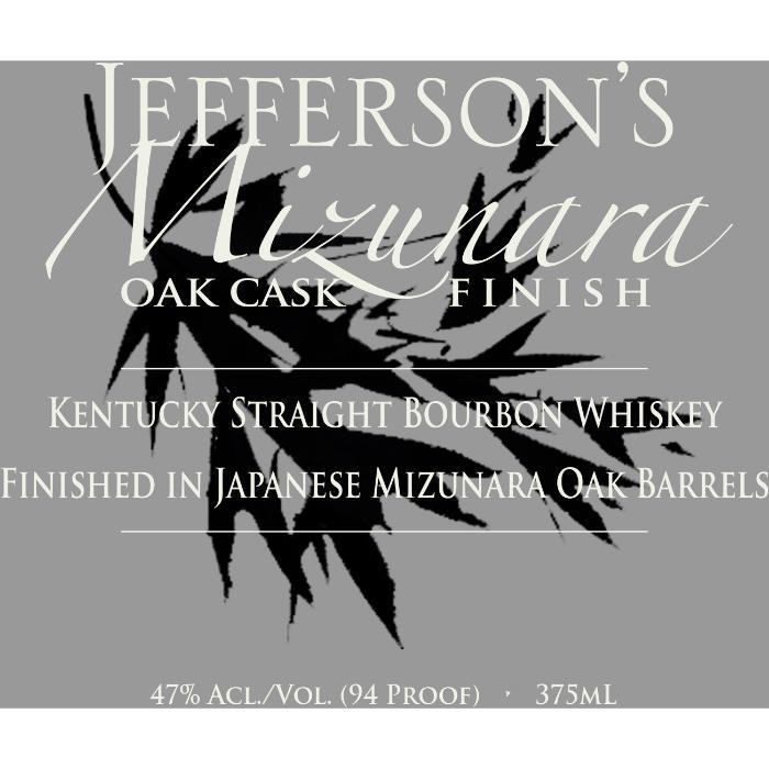 Jefferson's Mizunara Oak Cask Finish Bourbon Jefferson's