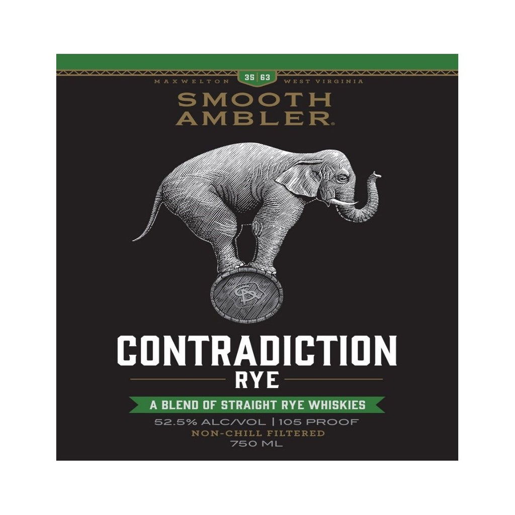 Smooth Ambler Contradiction Rye Rye Whiskey Smooth Ambler