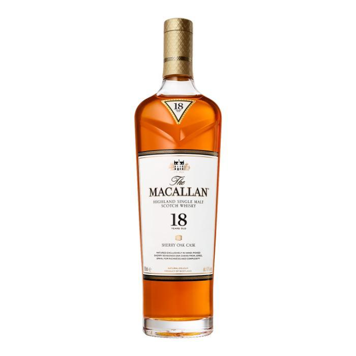 The Macallan 18 Year Old Sherry Oak Scotch The Macallan