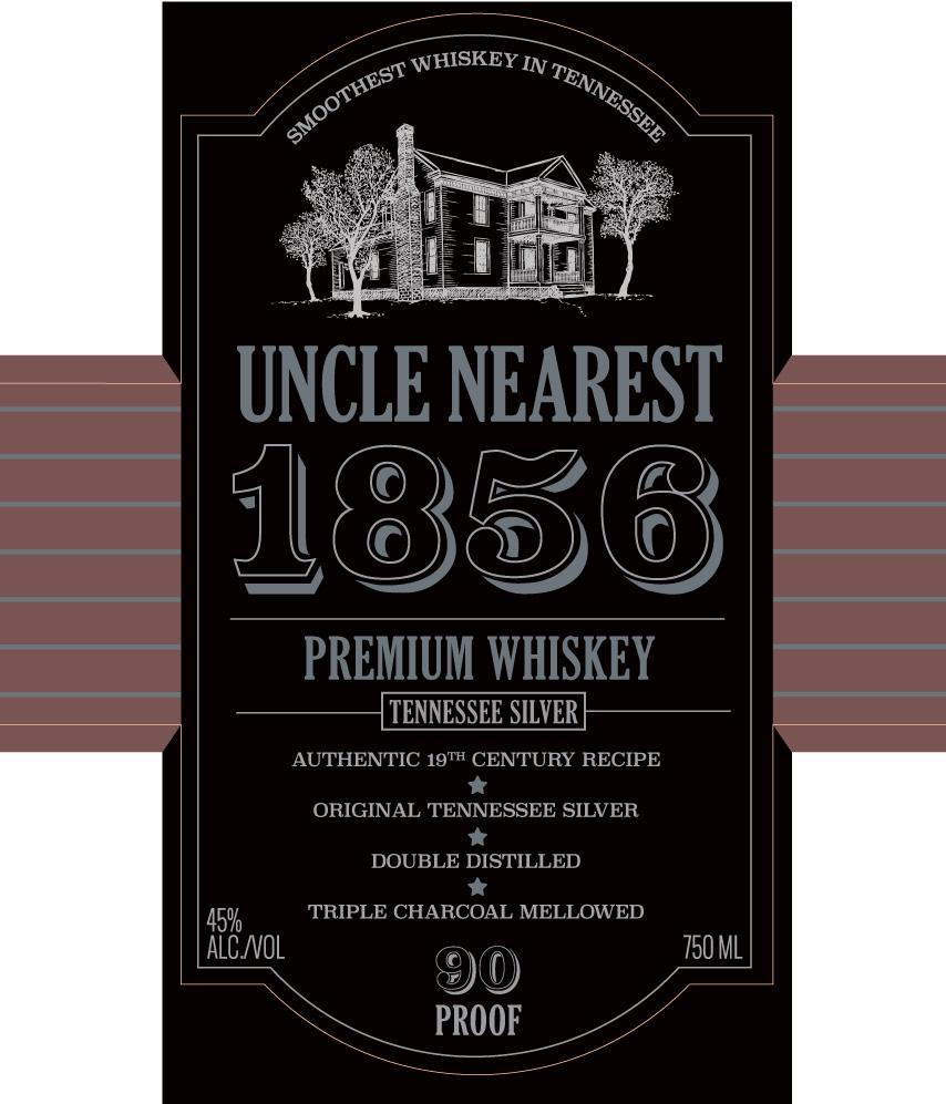 Uncle Nearest 1856 Tennesee Silver Silver Whiskey Uncle Nearest