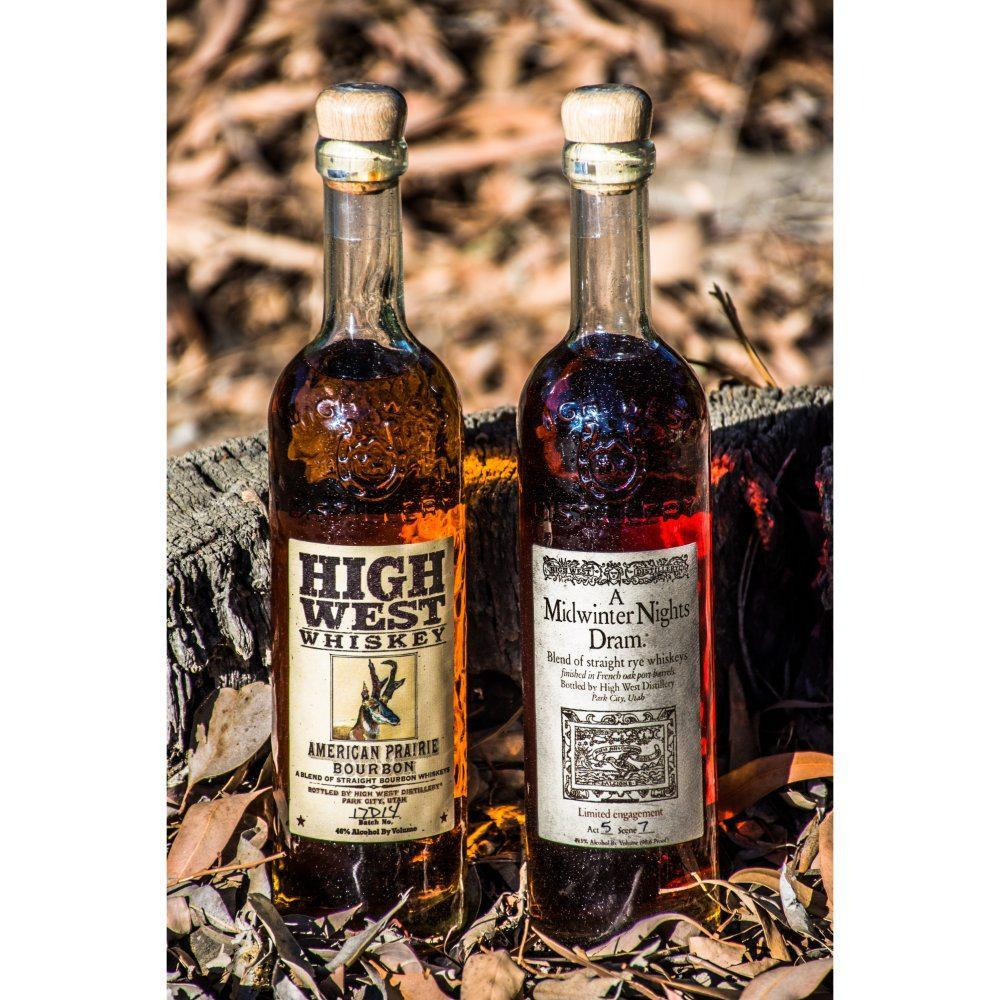 American Prairie Bourbon & A Midwinter Nights Dram Bundle Bourbon High West Distillery Double Rye + A Midwinter Nights Dram