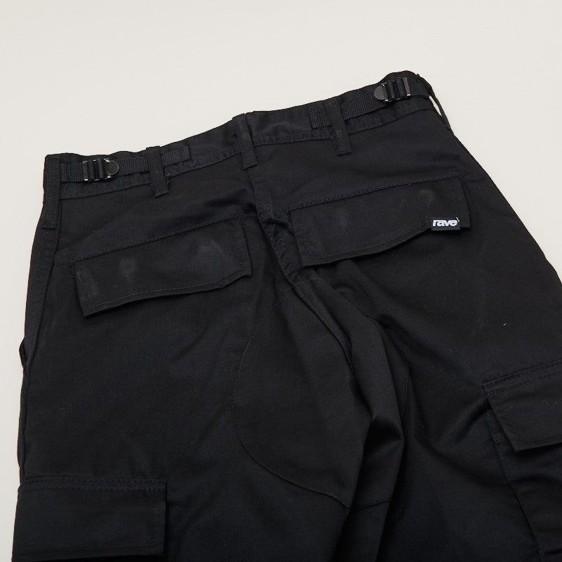 Rave Skateboards Summit Cargo Pant Black