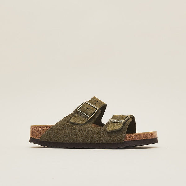 Birkenstock Women Arizona Suede Leather Forest (1011300)