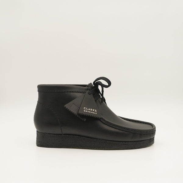CLARKS ORIGINALS WALLABEE BOOT LEATHER (BLACK) (26155512)