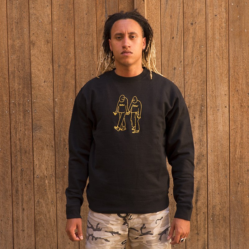 PARADISE NYC GONZ SWEAT CREW (BLACK)