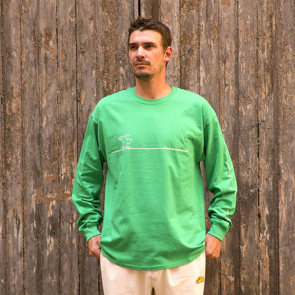RAVE SKATEBOARDS CAVANDOLI LS TEE (GREEN)