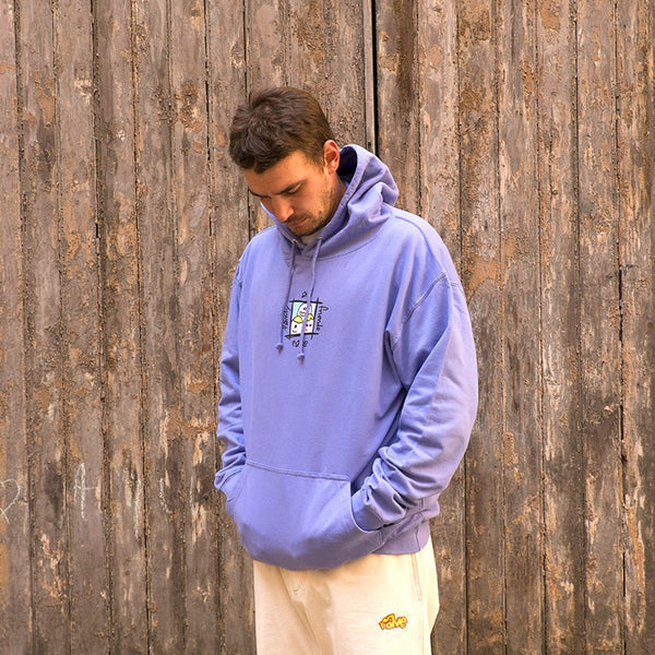 RAVE SKATEBOARDS FRIENDS AND FAMILY HOODIE (PURPLE)