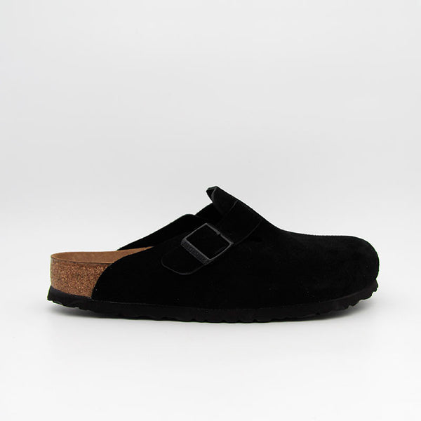 Birkenstock Sabots Boston SFB Suede Leather Black
