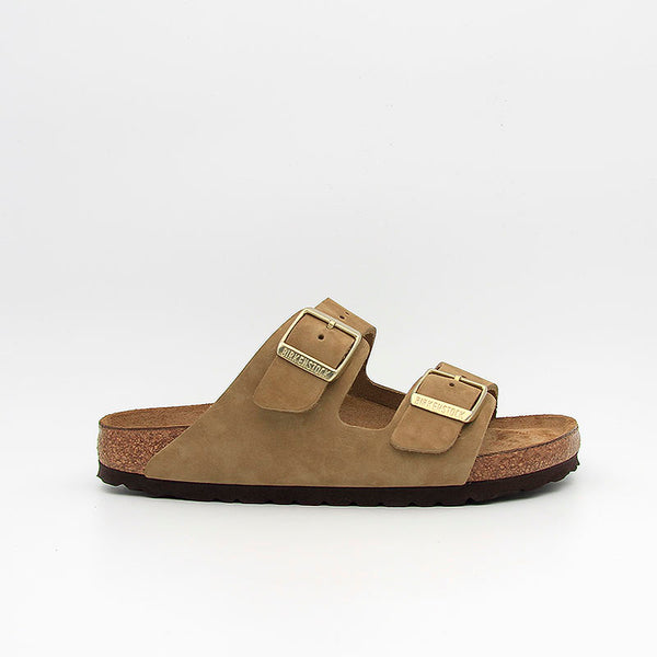 Birkenstock Sandales Arizona SFB Nubuck Leather Faded Kaki Women