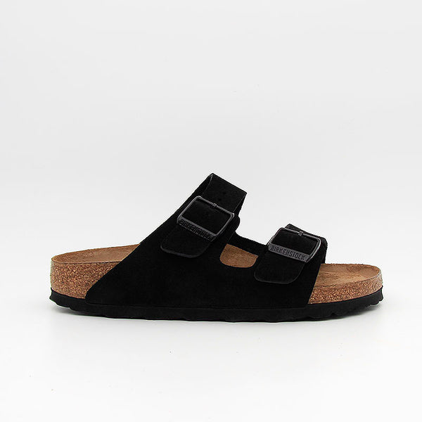 Birkenstock Sandales Arizona SFB Suede Leather Black