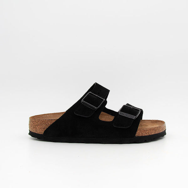 Birkenstock Sandales Arizona SFB Suede Leather Black Women