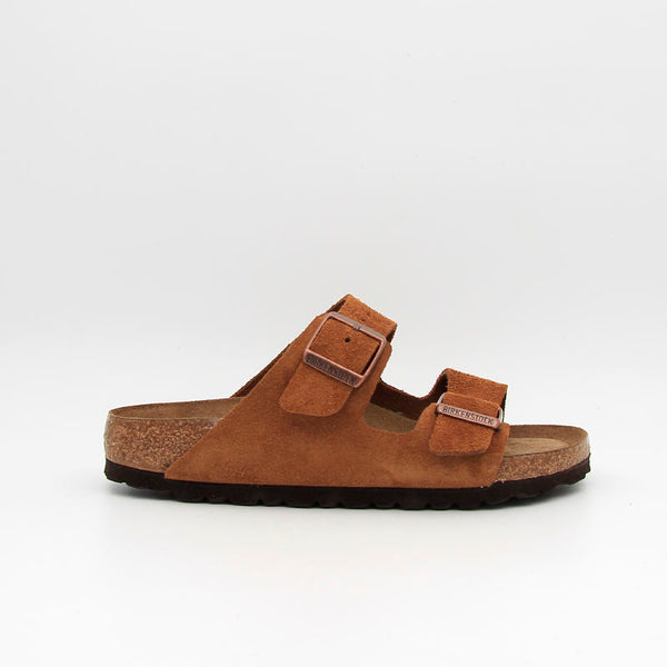 Birkenstock Sandales Arizona SFB Suede Leather Mink