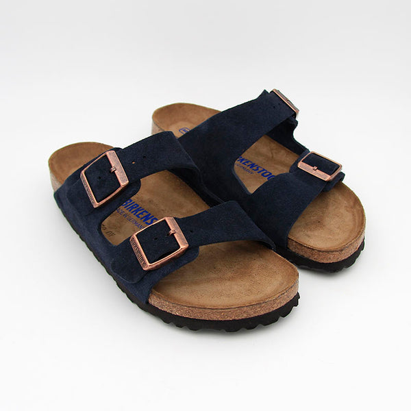Birkenstock Sandales Arizona SFB Suede Leather Navy Women