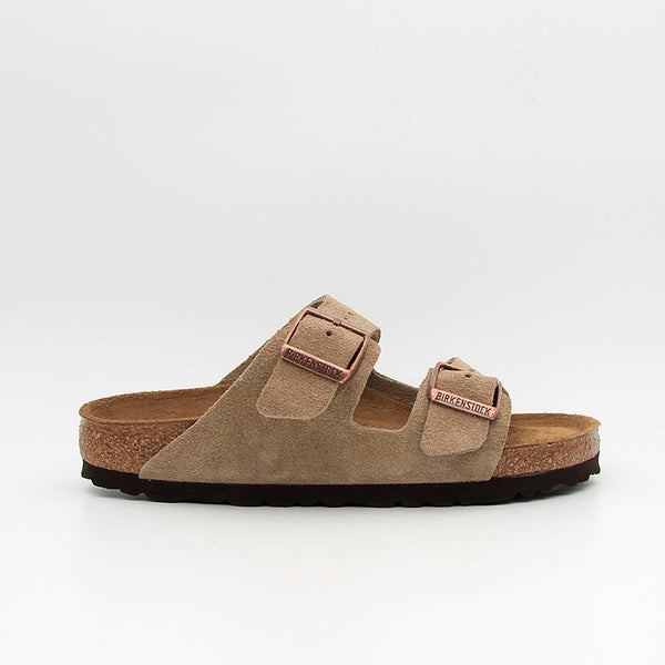 Birkenstock Sandales Arizona SFB Suede Leather Taupe