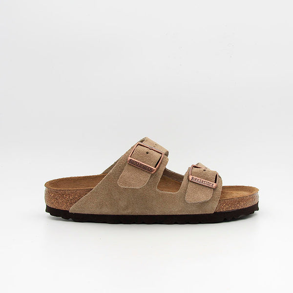 Birkenstock Sandales Arizona SFB Suede Leather Taupe Women