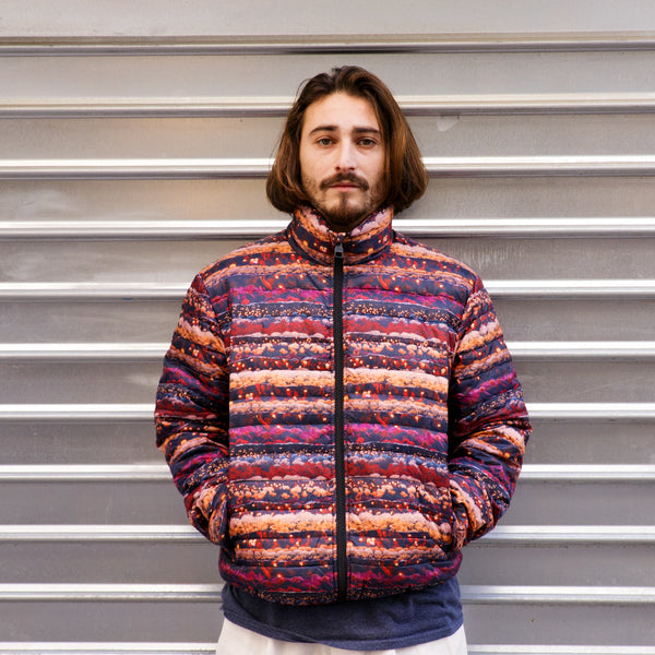 Fucking Awesome Lightweight Puffer Jacket (Red/Multi)
