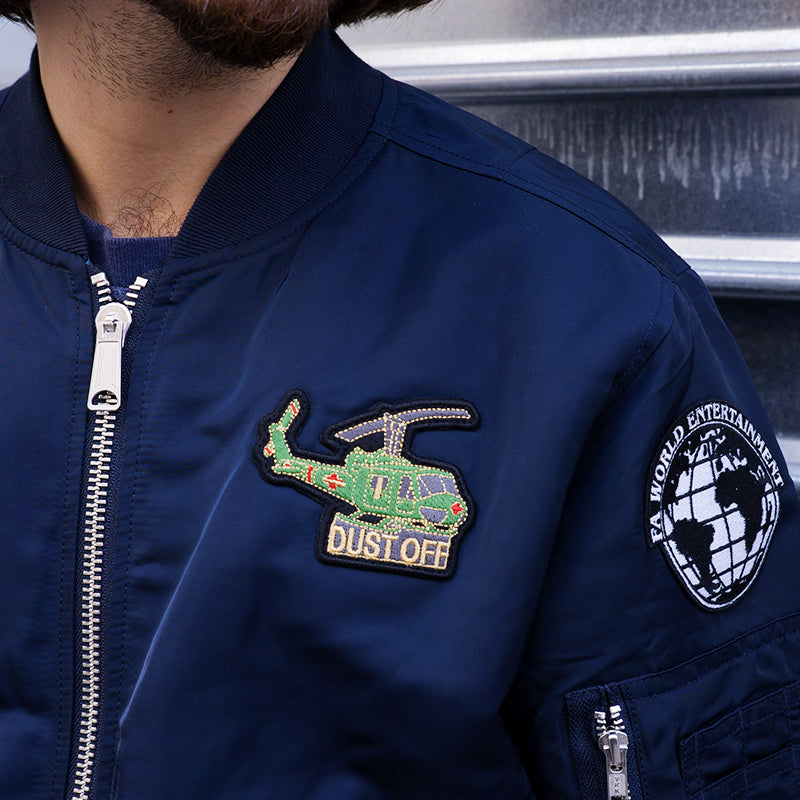 Fucking Awesome Reversible Bomber (Navy/Bomb Dill Art)