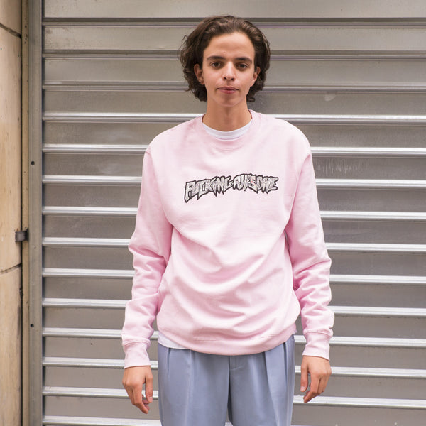 FUCKING AWESOME ACTUAL VISUAL GUIDANCE CREWNECK (PINK)