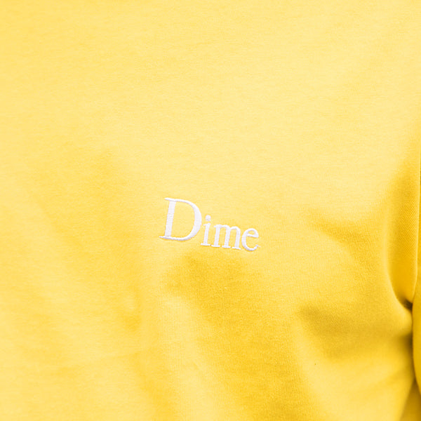 Dime Classic Small Logo T-Shirt (Yellow)