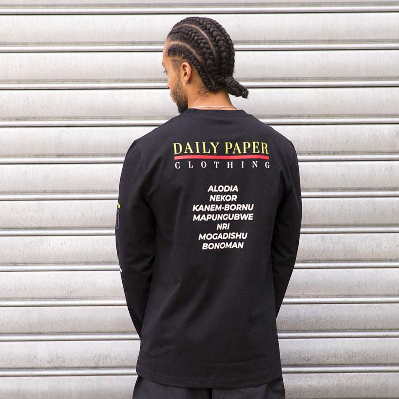 DAILY PAPER JEFF LS TEE (BLACK) (2021023)