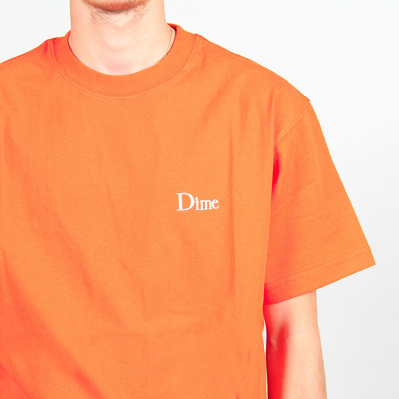Dime Classic Small Logo T-Shirt Burnt Orange