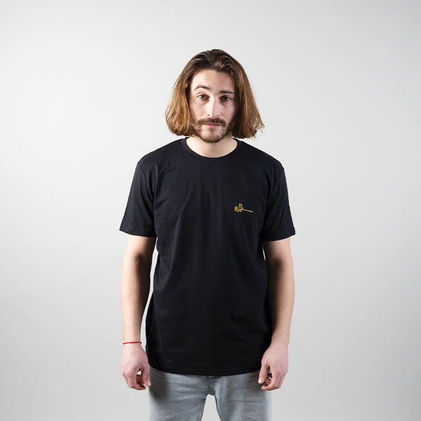 Milk All Over Logo Tee Black Gold