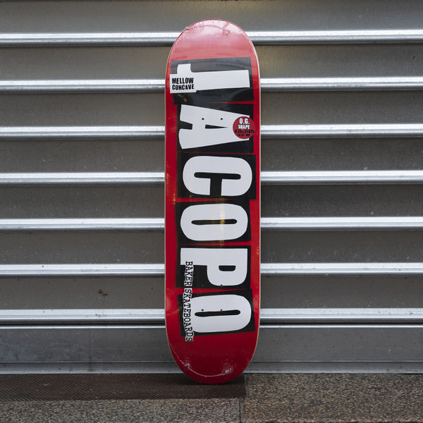 Baker Skateboards Jacopo Deck Mellow Concave 8.25