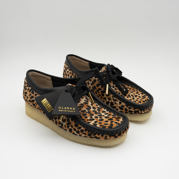 Clarks Originals Women Wallabee Leopard Print