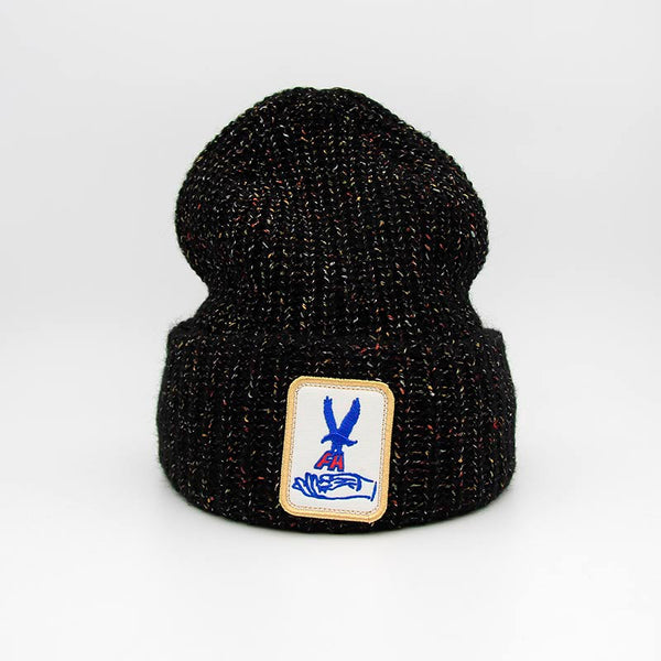 Fucking Awesome Hawk Speckle Beanie Black