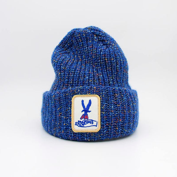 Fucking Awesome Hawk Speckle Beanie Blue