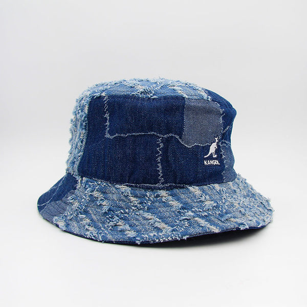 Kangol Denim Mashup Bucket Medium Blue