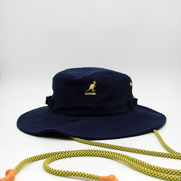 Kangol Denim Utility Cords Jungle Hat Navy