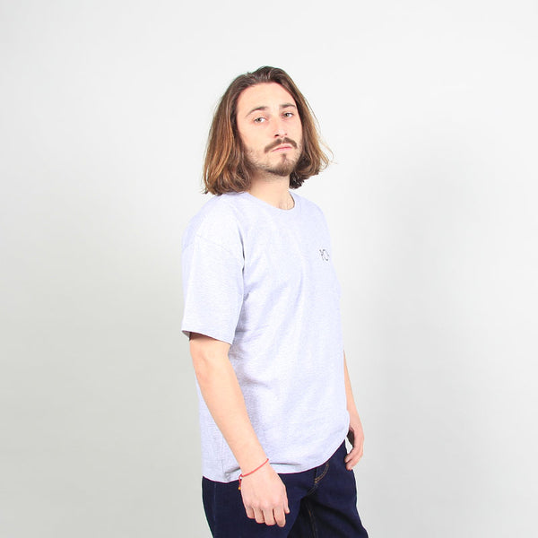 Polar Skate Co 3 Tone Fill Logo Tee - Sport Grey