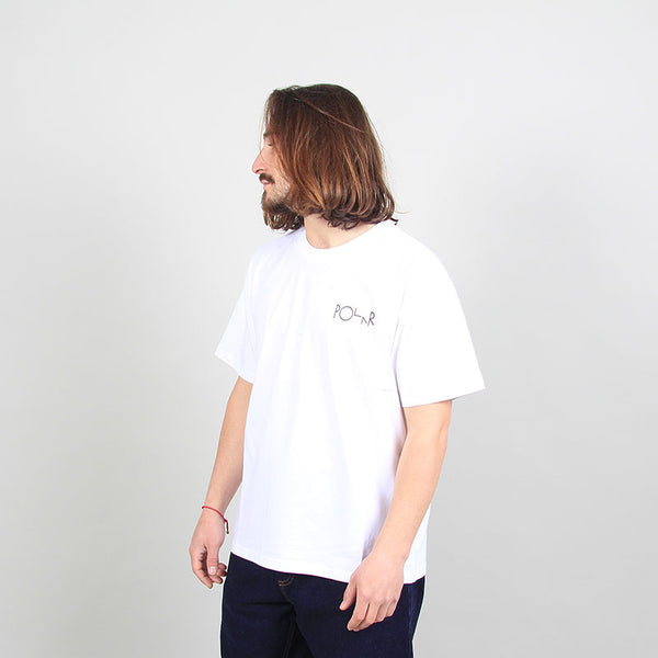 Polar Skate Co Notre Dame Fill Logo Tee White
