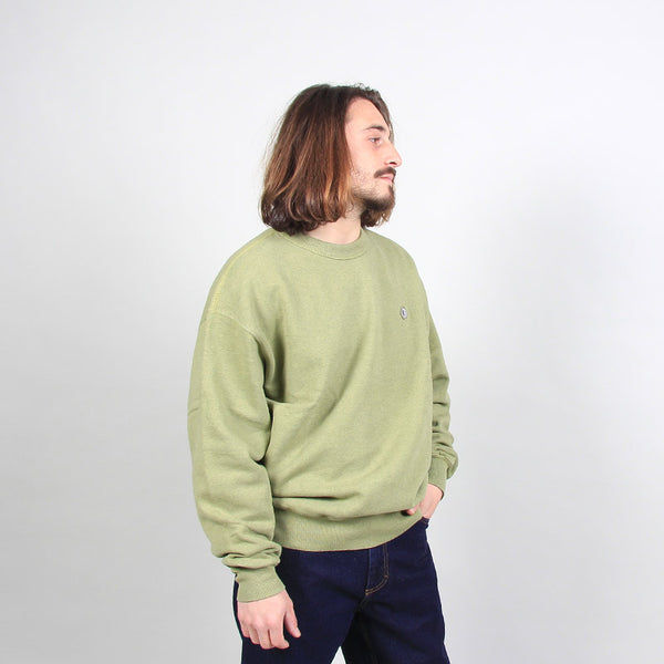 Polar Skate Co Patch Crewneck Heather Green