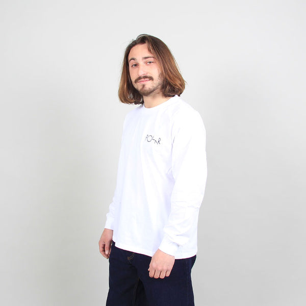 Polar Skate Co Sequence Fill Logo Longsleeve White