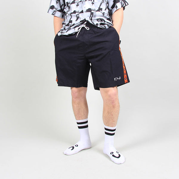 Polar Skate Co Square Stripe City Swim Shorts Black