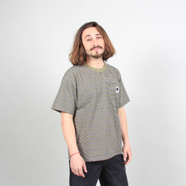 Polar Skate Co Stripe Pocket Tee Army Green